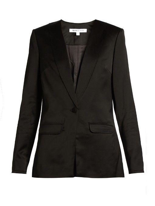 ELIZABETH AND JAMES Evie satin blazer. #elizabethandjames #cloth #blazer