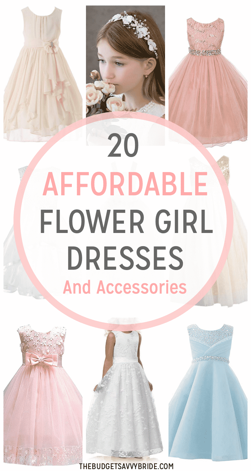 39 Flower Girls Gifts Accessories And Outfits Ideas Flower Girl Outfits Flower Girl Affordable Flower Girl Dresses