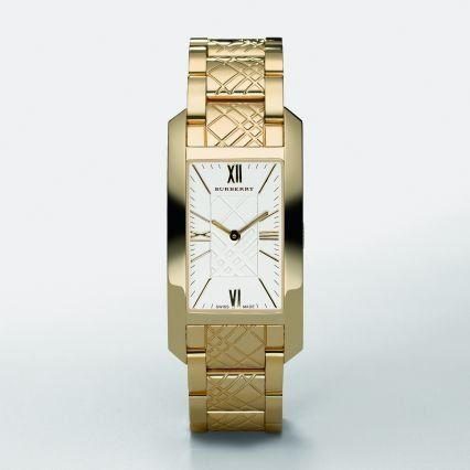 burberry gold bracelet watch