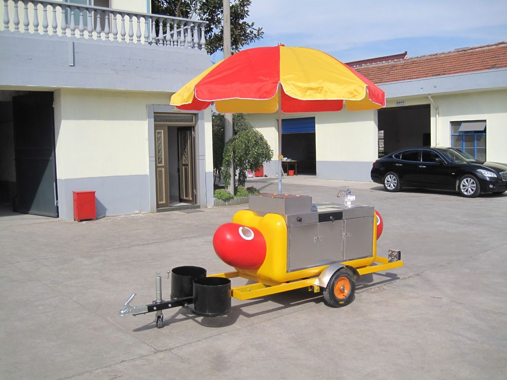 Hot Dog Mobile Food Cart Catering Trailer Kiosk Stand