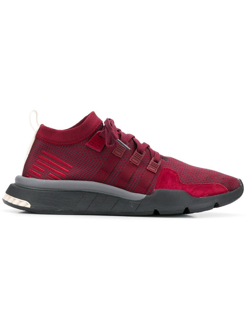 promo code 3a0a0 895a0 ADIDAS ORIGINALS ADIDAS EQT SUPPORT MID ADV SNEAKERS - RED.  adidasoriginals shoes