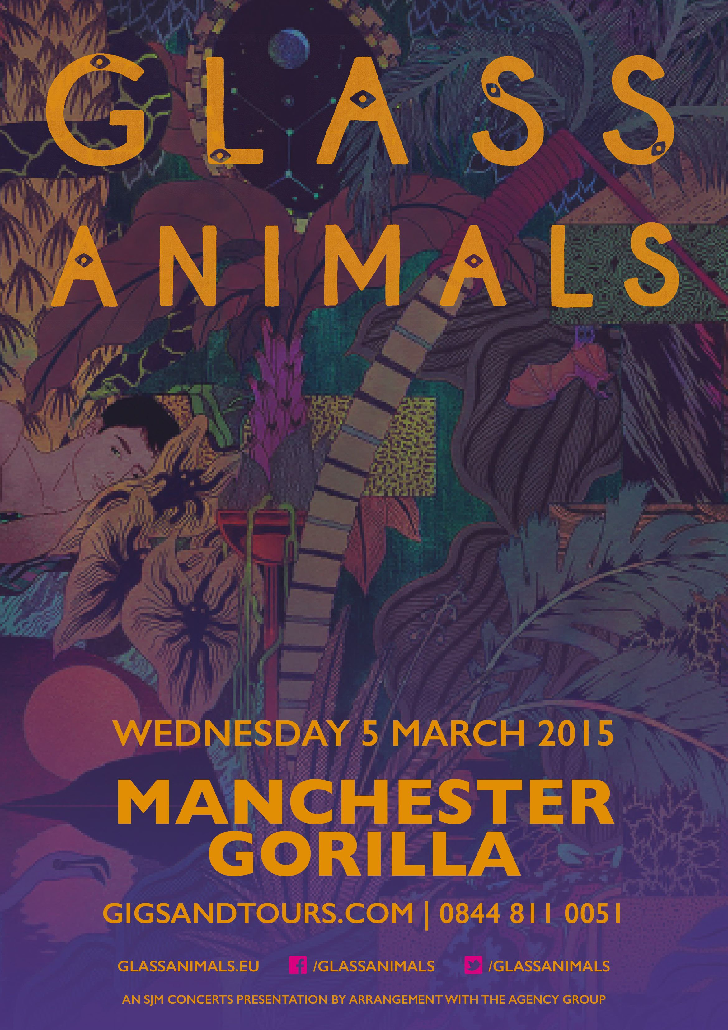 glass animals show tour posters tour posters glass animals