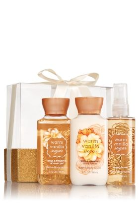 Warm Vanilla Sugar Mini Wrapped With A Bow Gift Set Bath