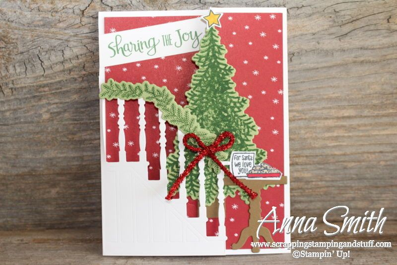 stampin up ready for christmas trifold christmas card with video tutorial homemade christmas cards - Tri Fold Christmas Cards