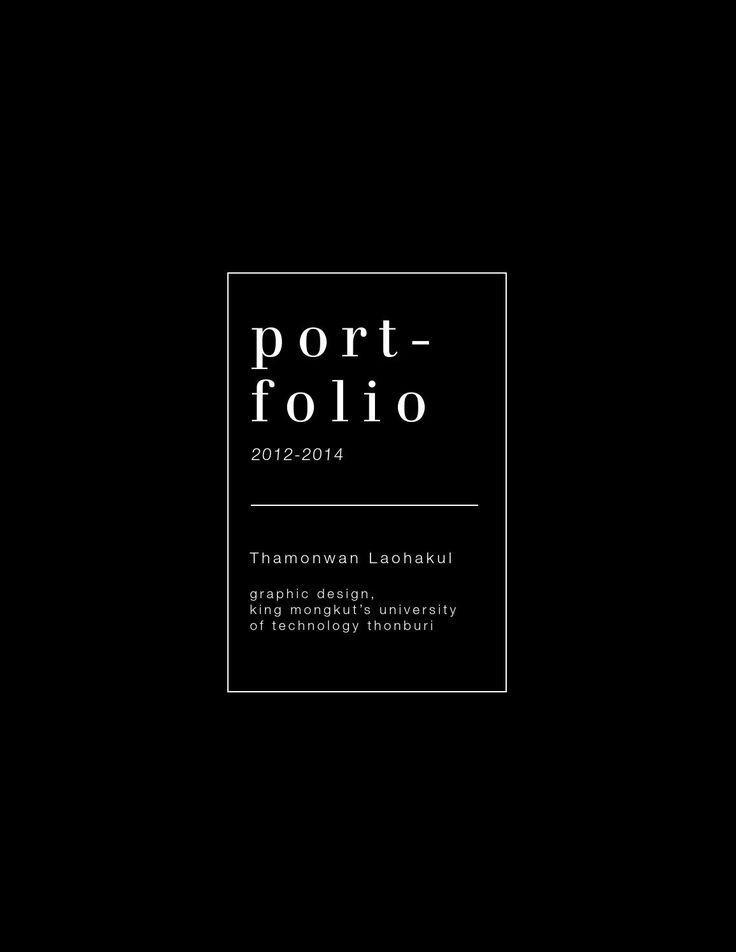 personal portfolio cover page