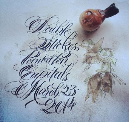 Barbara Calzolari | Beautiful lettering, Calligraphy art ...