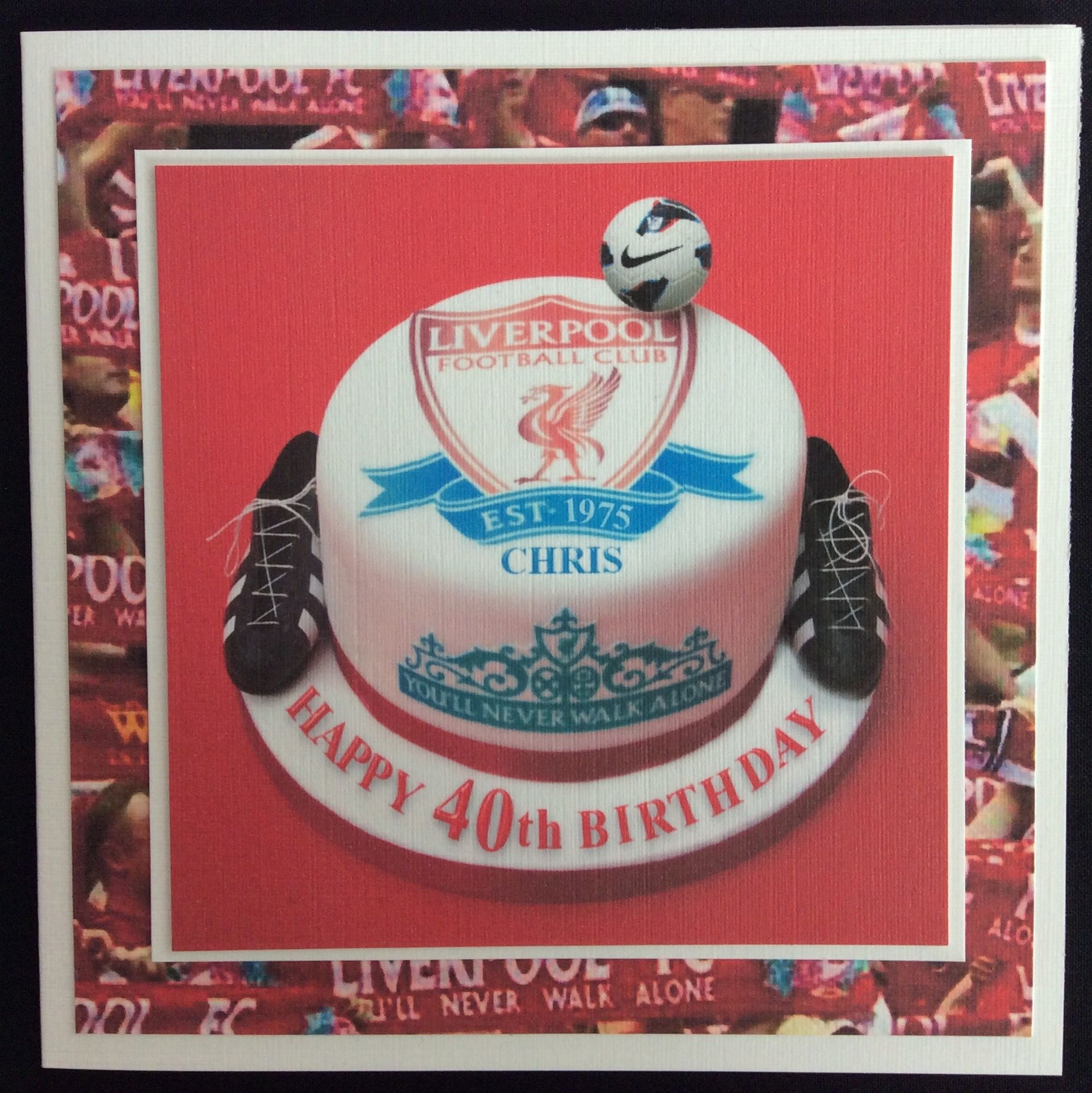 Order code 091501 birthday cake card for a liverpool fc fan they order code 091501 birthday cake card for a liverpool fc fan they come in all bookmarktalkfo Choice Image