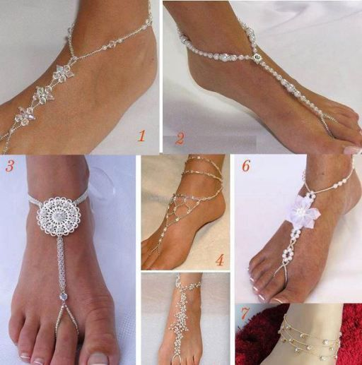 269772f5b0ce13 Wonderful DIY Glamorous Barefoot Beach Sandals