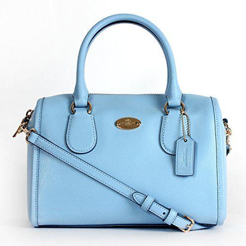 72733e7e686eb Coach 33329 Crossgrain Leather Mini Bennett Satchel Pale Blue Coach  http   www.