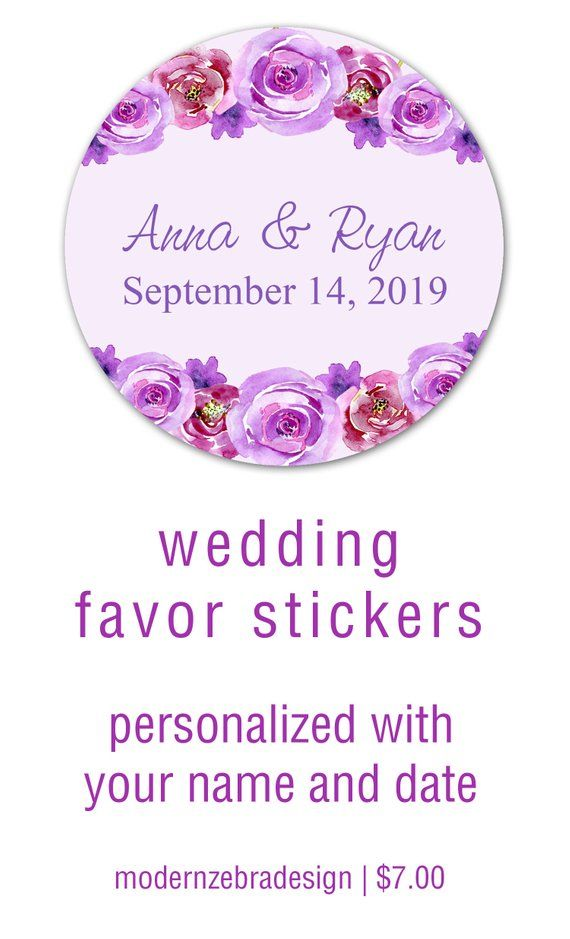 Bridal Shower Favor Stickers Labels For Favors