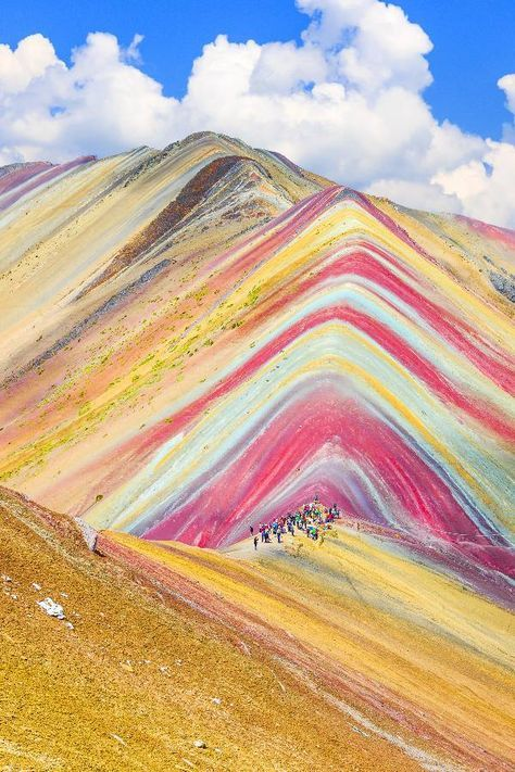 Vinicunca, Cusco Region, Peru  Appropriately named Montaña de Siete Colores, or Rainbow Mountain, this national landmark in Peru is a must-visit destination