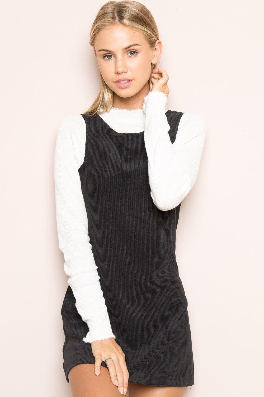 Black t shirt dress brandy melville - Brandy Melville Jenna Corduroy Dress Clothing