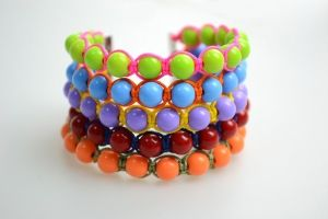 how to make bangle bracelets out of string and beads by HellenK