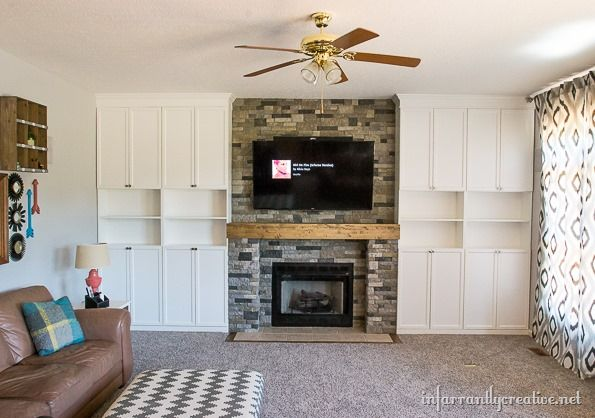 Family Room Makeover Part 5 Final Touches  Stone Fireplaces Enchanting Living Room Built Ins Inspiration Design