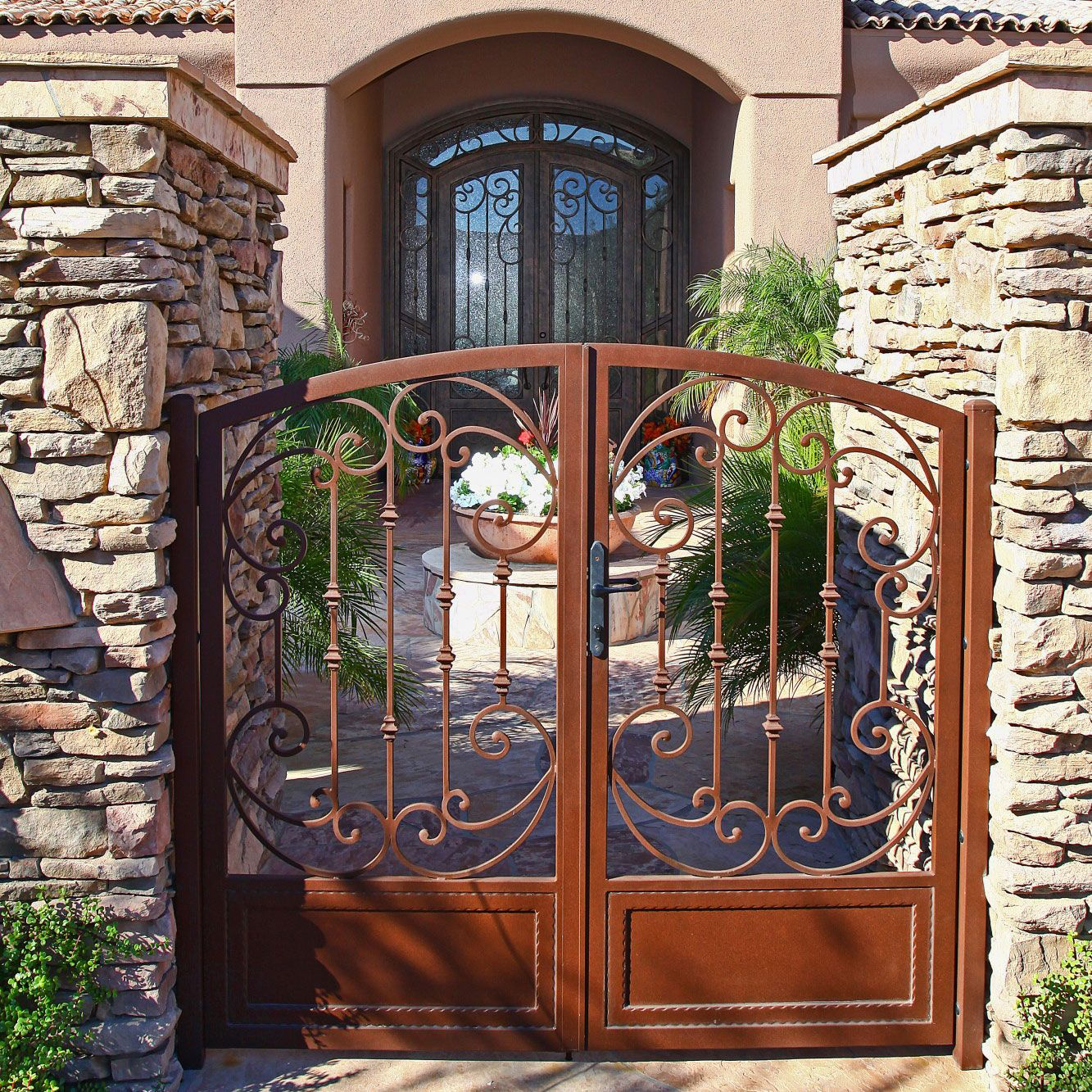 Tuscan Tuscan House Iron Gates Wrought Iron Decor