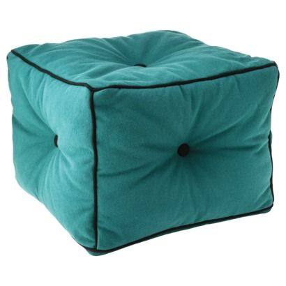 Patch Collection Target Teal Footrest Pouf 80 Bean