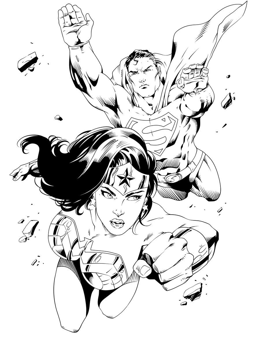 Superman coloring pages online - Wonder Woman Coloring Pages Online