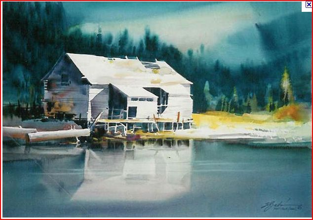 Zoltan Szabo Taking It To Limit Landscape Art Watercolor