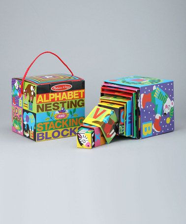 Take A Look At This Alphabet Nesting Stacking Blocks By