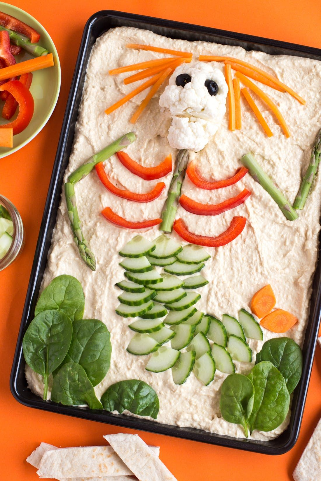 forget halloween candy try this veggie skeleton platter instead