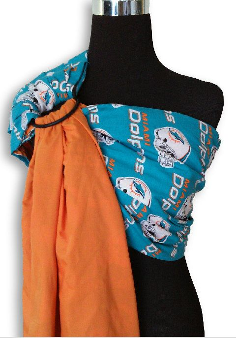 Licensed NFL Miami Dolphins and Orange Baby by CoutureBabySlings