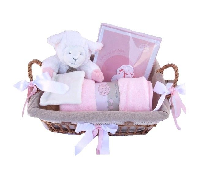 panier naissance agneau rose panier bb pinterest roses. Black Bedroom Furniture Sets. Home Design Ideas