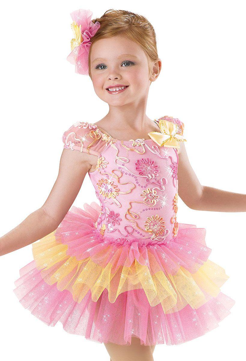 Girls\' Ribbon Floral Tutu Dress; Weissman Costumes   tutus ...