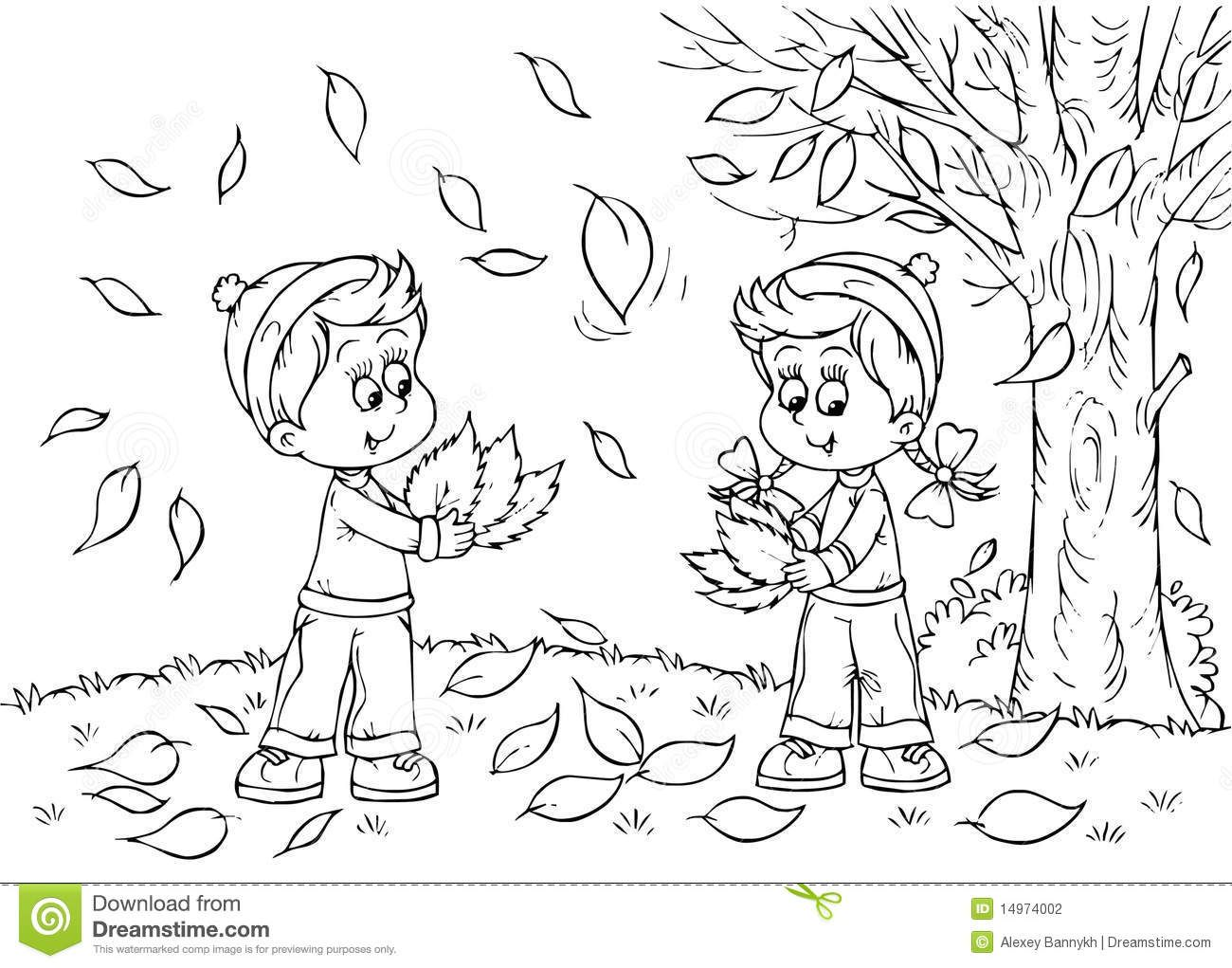 Automn Clipart Black And White