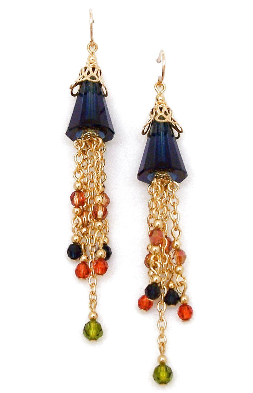 1cdc593f5 03-04-885 Fall Fantasy Crystal Beaded Earrings | Fall Fashion ...