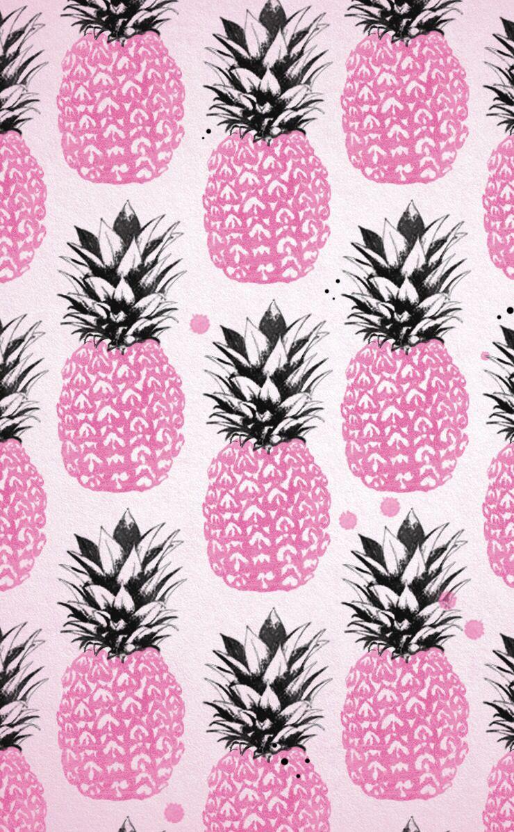 Hawaii Pineapple wallpaper, Pink pineapple wallpaper