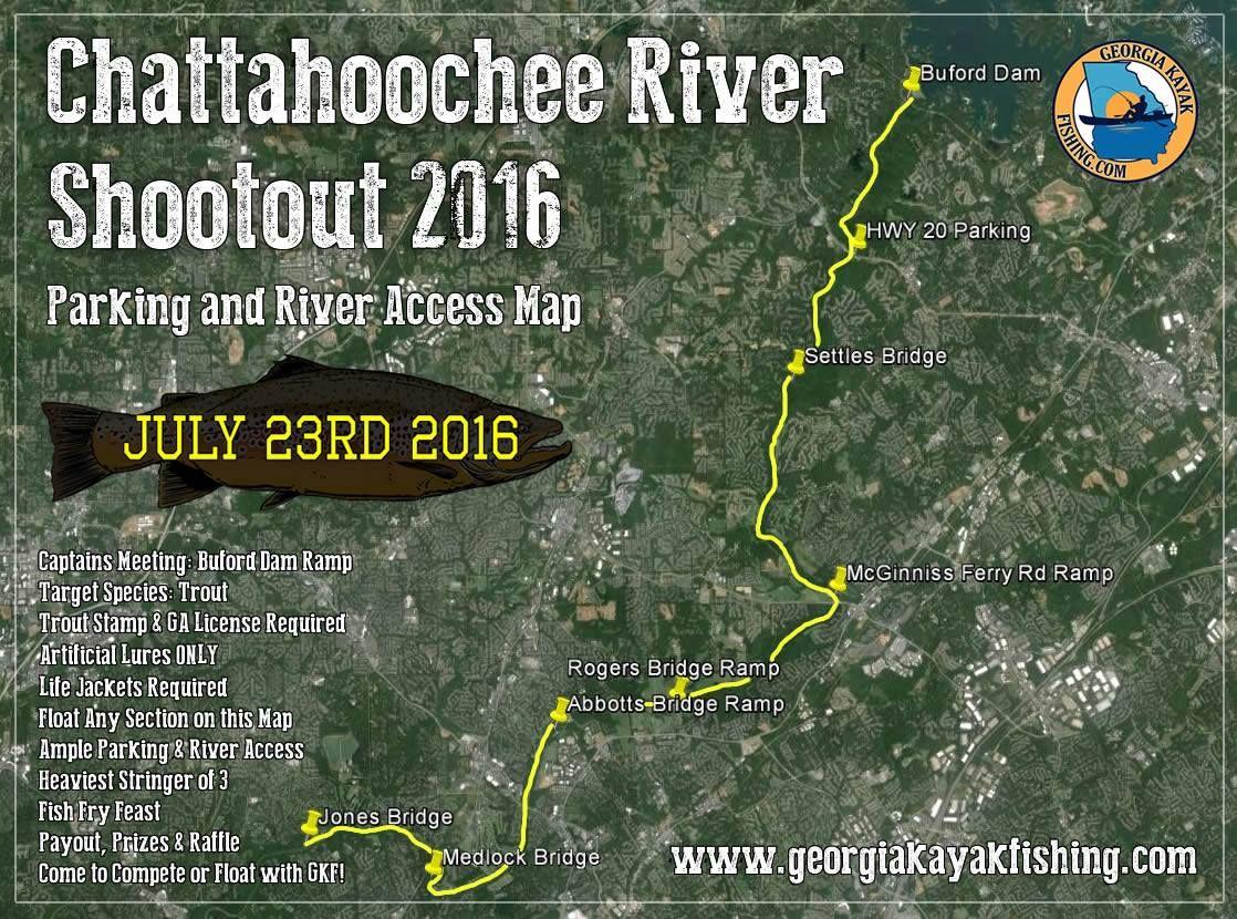 Chattahoochee river shootout trout fishing tournament on for Chattahoochee river fishing