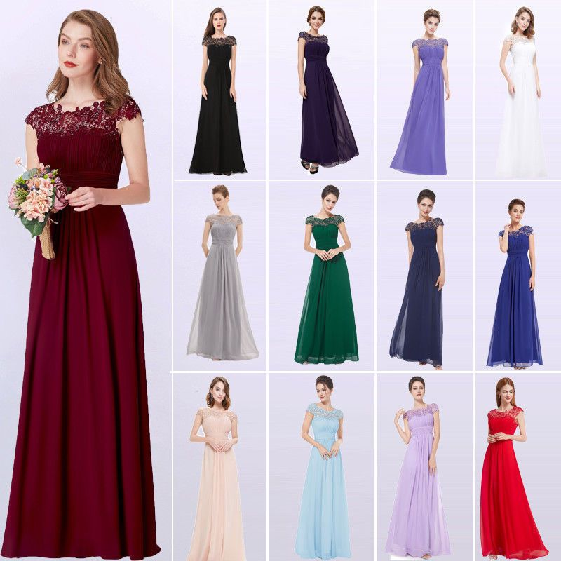 Ever Pretty Long Lace Wedding Dress Bridesmaid Formal Evening Dresses Gown 09993 Beaded Bridesmaid Dress White Bridesmaid Dresses Formal Evening Dresses