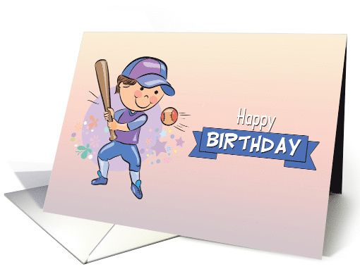 Boy hitting a baseball on this cute adorable birthday card this is boy hitting a baseball on this cute adorable birthday card this is a perfect card m4hsunfo