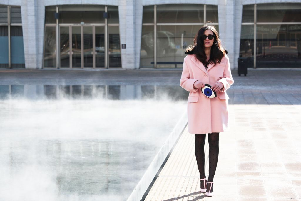 #Pink photos by #stefanocoletti wearing #moschino pink coat   the website of Eleonora Carisi