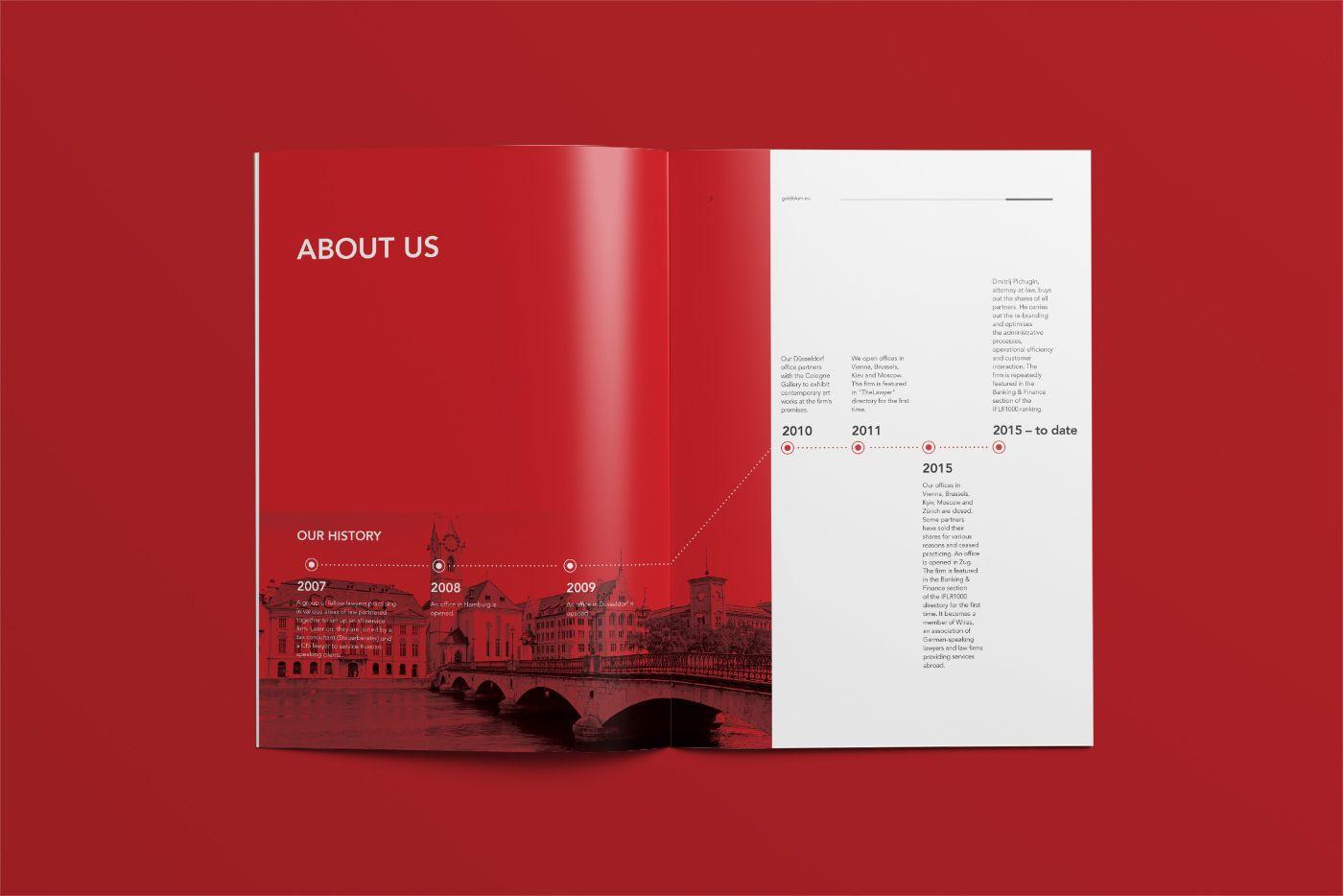 Goldblum Company Profile On Behance  Editorial  Layout