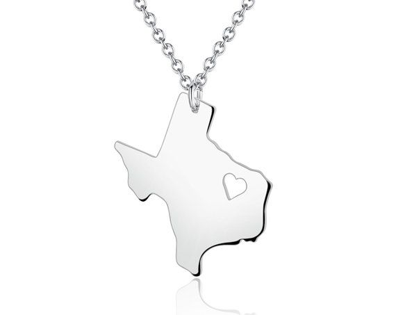 Texas necklace texas pendant i heart state necklace state texas necklace texas pendant i heart state necklace state charm map necklace mozeypictures Choice Image