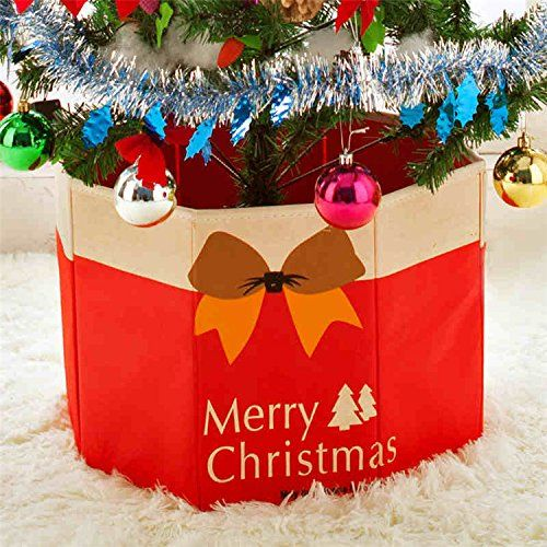 Christmas Tree Skirt Christmas Decoration Red To View Further For This Item Visit T Christmas Tree Base Christmas Tree Base Cover Creative Christmas Trees