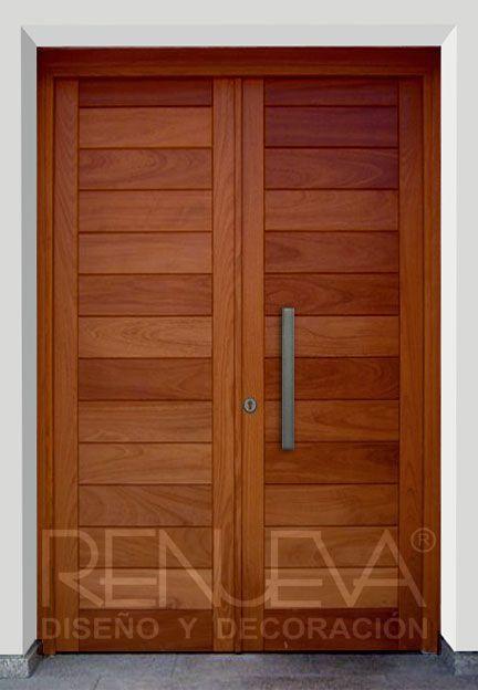 Puertas exteriores madera y crital buscar con google - Puertas exteriores madera ...