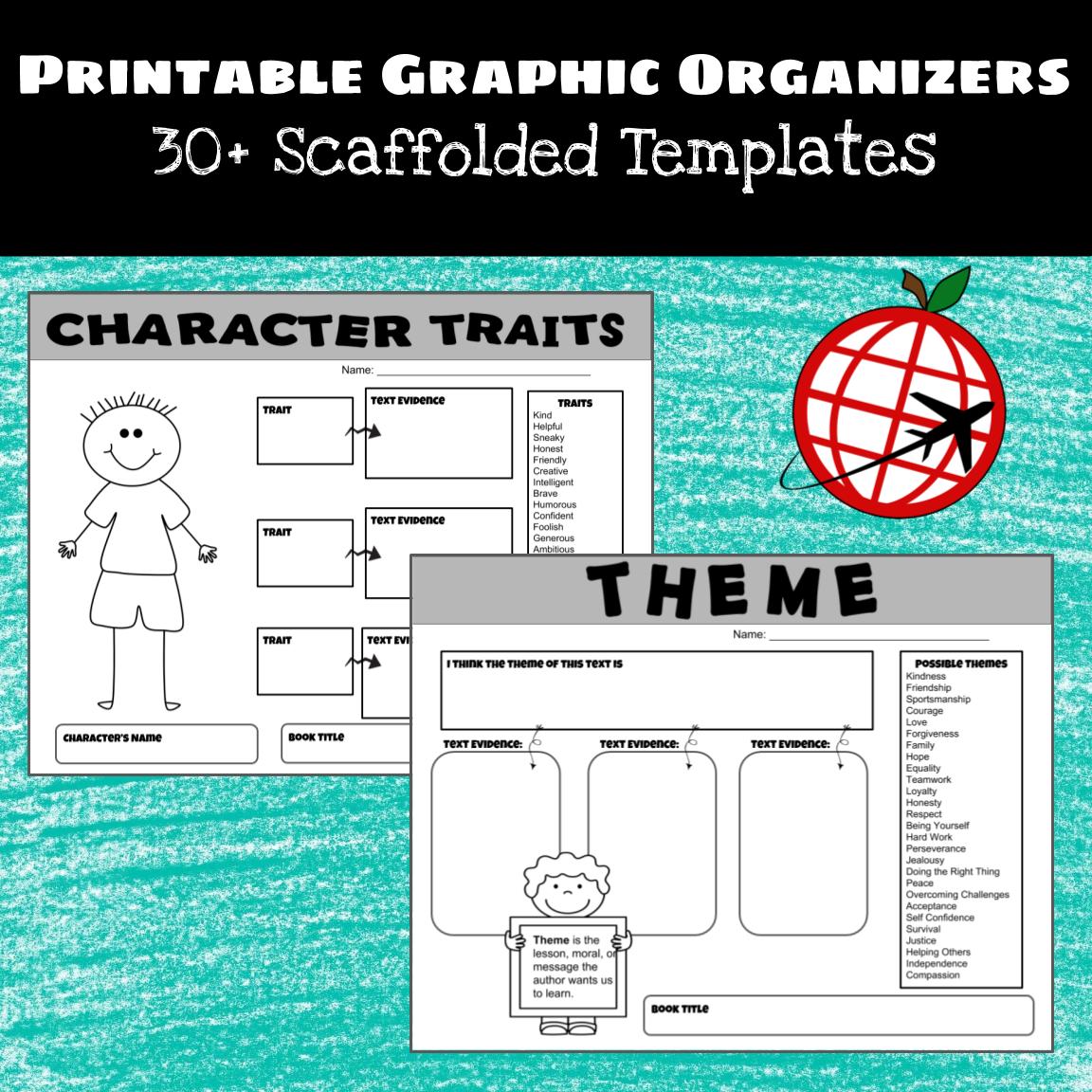 Printable Literature Graphic Organizers