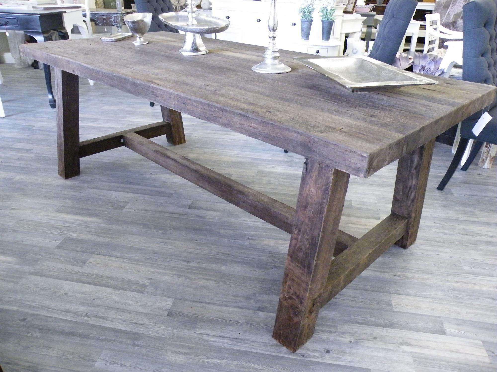 Esstisch Grigio Teak Teakholz Tisch Landhaus Landhausstil Rustikal Natur Massiv Neu Sitzmobel Tische Rustic Dining Table Dining Table Rustic Dining