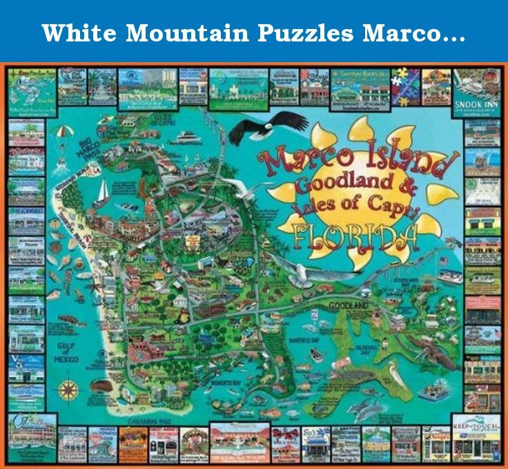 White Mountain Puzzles Marco Island Jigsaw Puzzle (1000 Piece ...