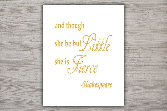 Shakespeare glitter quote calligraphy quote kids by printandproud