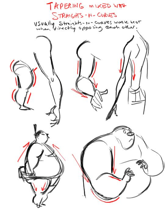 The art of dave pimentel tapering body shapes art ref for Cartoon body tutorial
