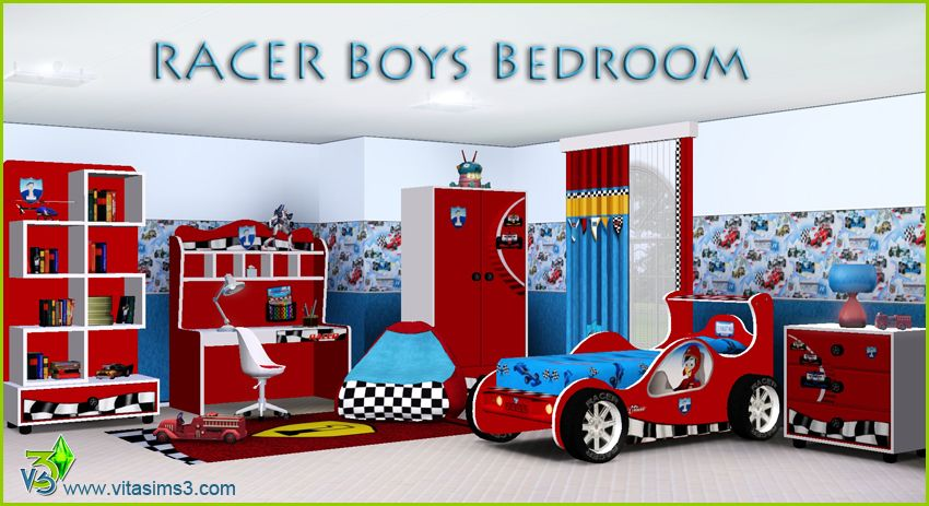 Racer Boys Bedroom Set