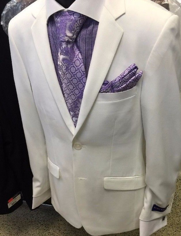 Men/'s Suit Single Breasted 2 Buttons Classic Fit 2 Piece Solid Colors 2AA