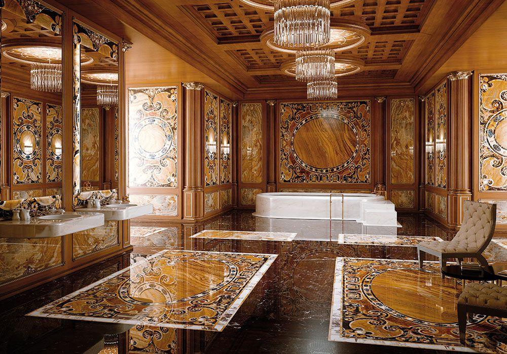 Bathrooms & Wellness - Luxury - Budri - Italian Marble Inlay ...