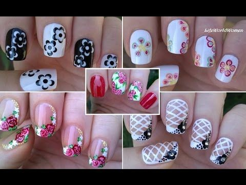 Nail Art Compilation 3 Floral Nails Lifeworldwomen Letty