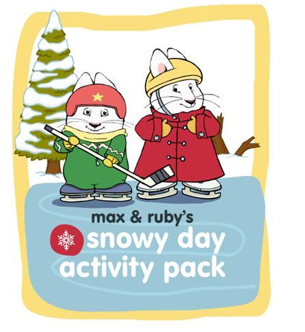 Stay warm on a snowy day with Max and Ruby's Snow Day Activity Pack!