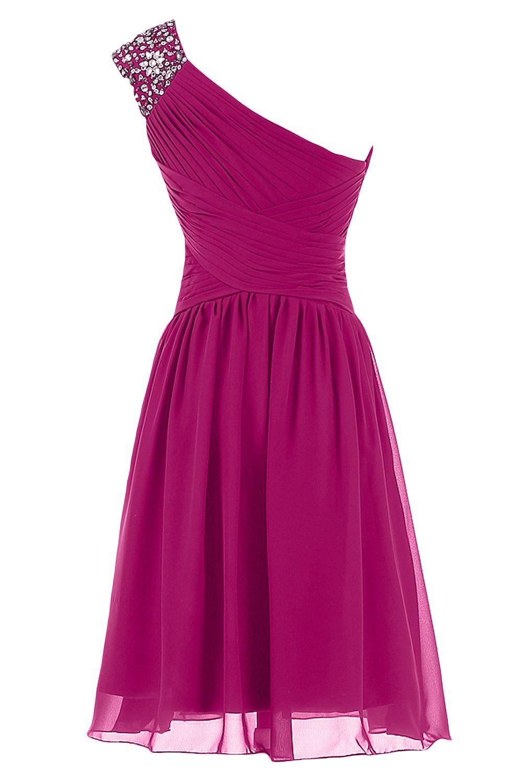 Sunvary One Shoulder Chiffon Short Prom Dresses Homecoming Dresses ...