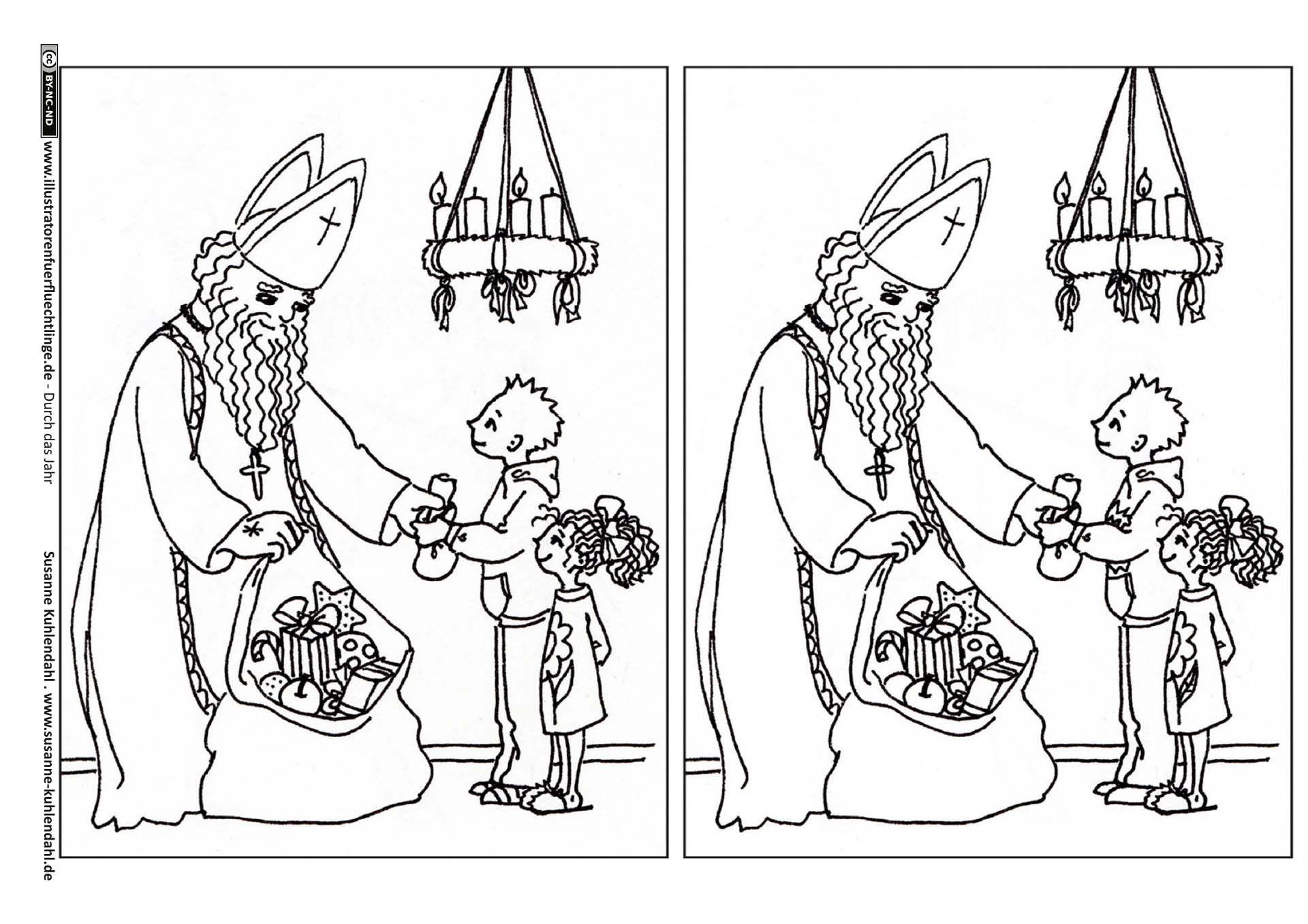 Nikolaus Fehlerbild Fehlerbilder Nikolaus Sankt Nikolaus